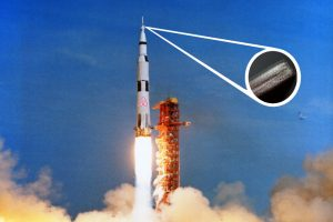Flow FP's Block Woman launches in AirBnB's Apollo 11 rocket.